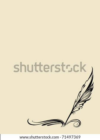 vector pen on white background - stock vector