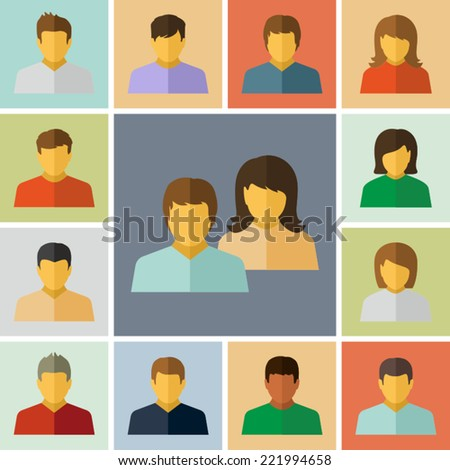 Vector People icons  - stock vector