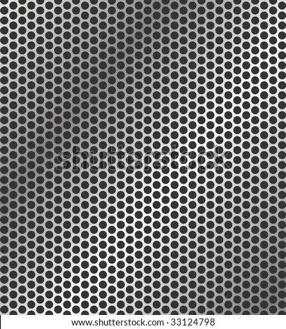 Vector perforated metal background - stock vector
