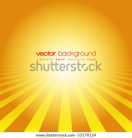 Vector perspective lines on the gold background with text