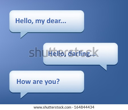 Vector phone chat bubbles. Sms messages. Speech bubbles.  - stock vector