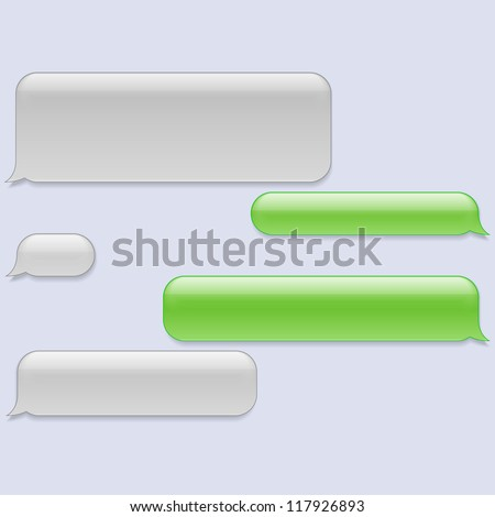 Blank Text Message Bubble Chat Stock Imag...