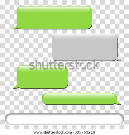 Vector phone chat bubbles. Sms messages. Speech bubbles. Short message service bubbles, chat. Vector illustration - stock vector