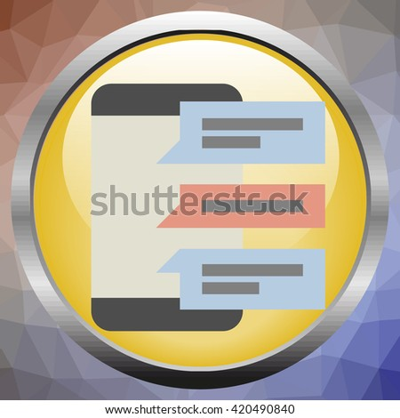 Vector phone chat interface. Sms messages. Speech bubbles. Short message service bubbles.  - stock vector