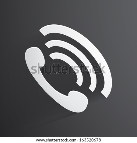 Vector phone handset icon background. - stock vector