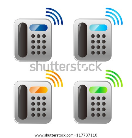 vector phone icons - stock vector
