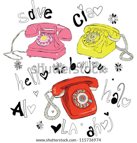Vector Phones - stock vector