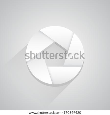 Vector photo blind icon button - stock vector