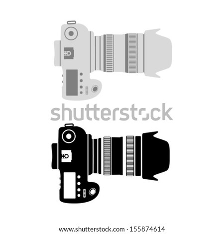 Vector Photo Camera Icon Symbol Illustration Set - stock vector