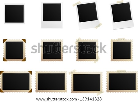 vector photo frame collection - Separate layers for easy editing - stock vector