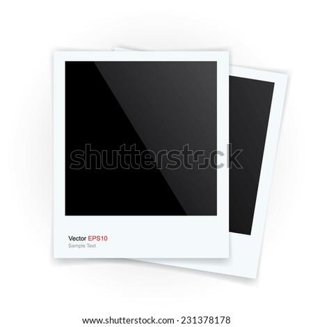 Vector photo frame on white background. - stock vector