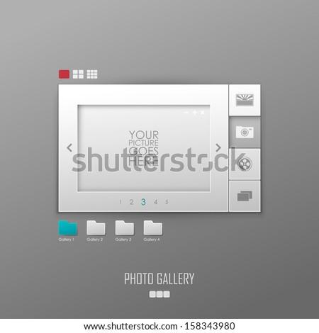 Vector photo gallery template design - stock vector