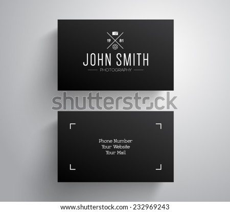 Vector photographer photography business card template stock vector vector photographer photography business card template with hipster style design logo logotype brand fbccfo Gallery
