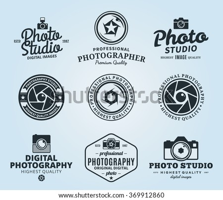 vector photography logo templates stock vector royalty free