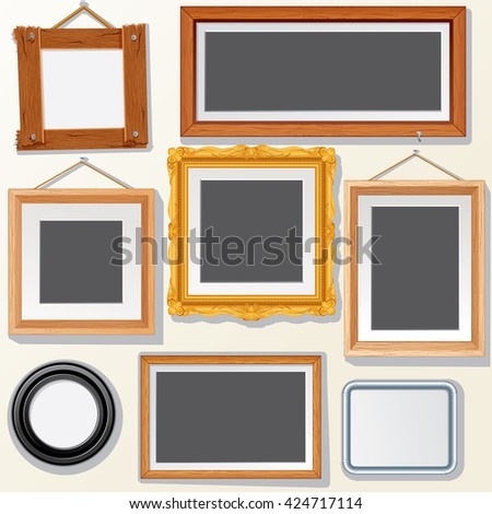 Vector Picture, Photo Frames. Ready for Your Text and Design. - stock vector