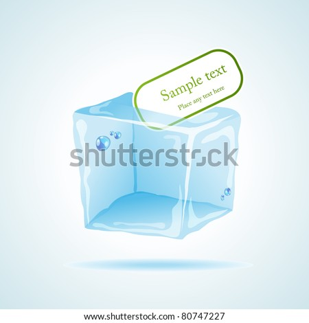 Vector picture with icecube and space for your text