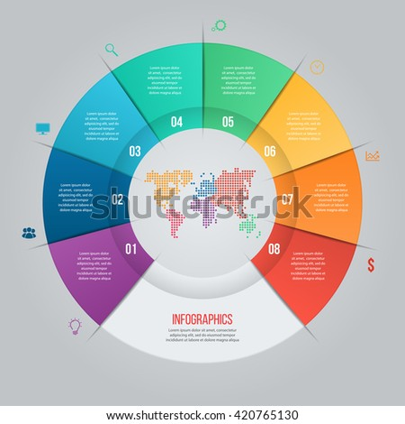 vector pie chart template graphs charts ベクター画像素材 420843913