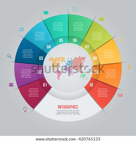 Vector pie chart template graphs charts stock vector 420765133 vector pie chart template for graphs charts diagrams business circle infographic concept with gumiabroncs Gallery