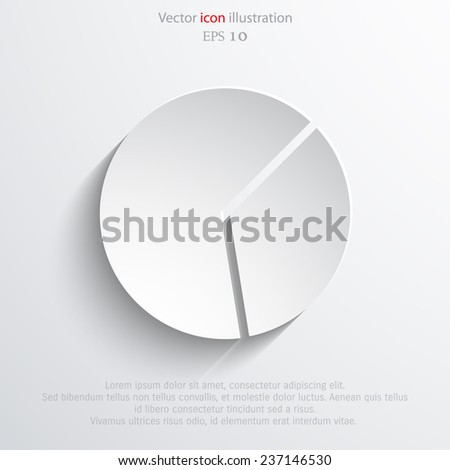 Vector pie chart web flat icon. Eps 10 illustration. - stock vector