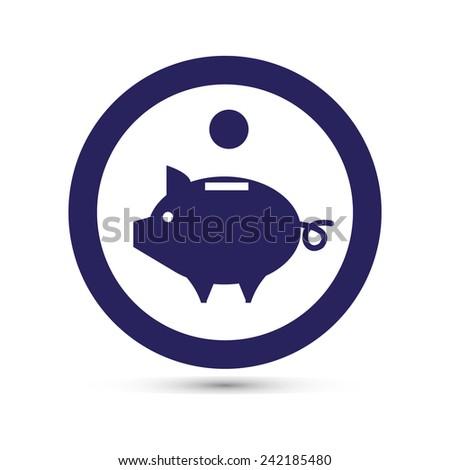 vector piggy  - stock vector