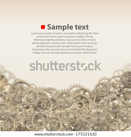 Vector pinions on the background - stock vector