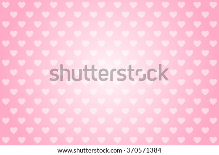 Vector pink background with hearts