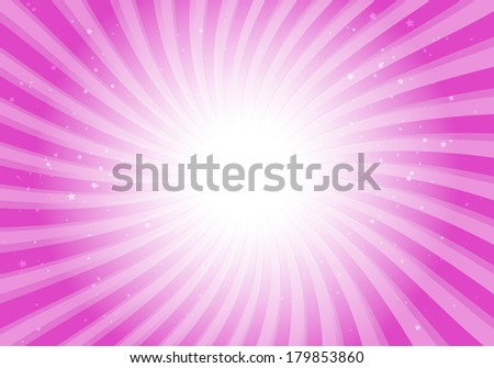 Vector pink rotating star abstract background illustration - Vector abstract pink  space blast  template - stock vector