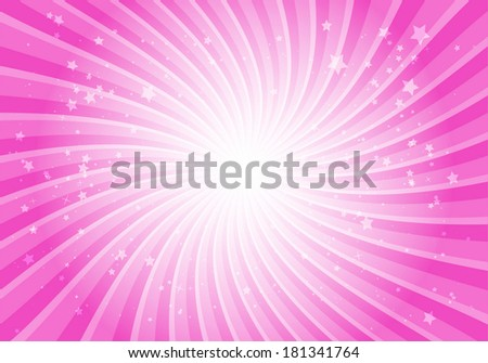 Vector pink star burst abstract background illustration - Vector pink background swirl template illustration - stock vector