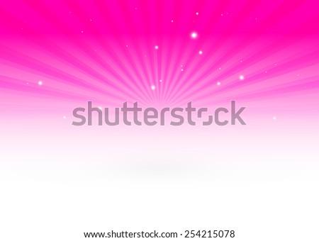 Vector pink star burst background illustration - Vector pink abstract blast background illustration - stock vector