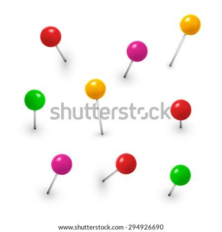 Vector pins collection. Eps10. - stock vector