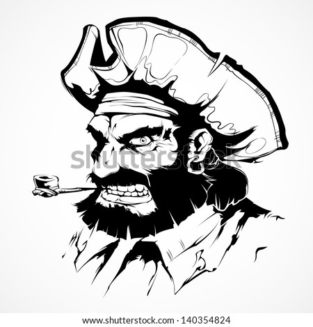 Pirate face vector - photo#3
