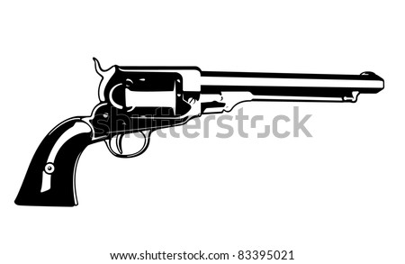 Vector Pistol - stock vector