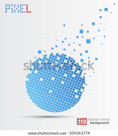 Vector pixel background. - stock vector