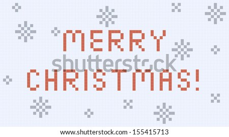 Vector pixel Christmas card.