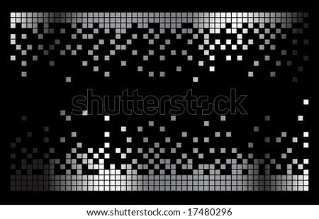 Vector pixels - stock vector