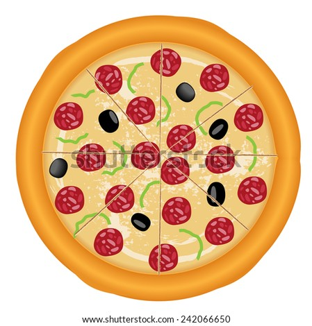 Vector pizza design