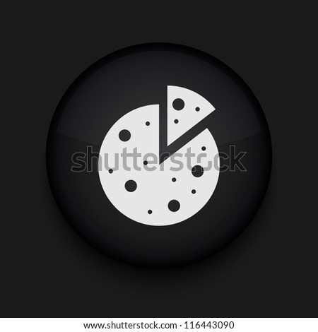 Vector pizza icon. Eps10. Easy to edit - stock vector