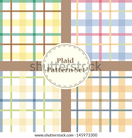 Vector plaid patterns - stock vector