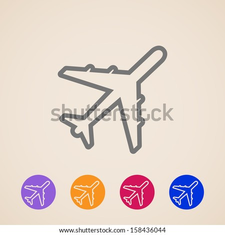 vector plane icons - stock vector