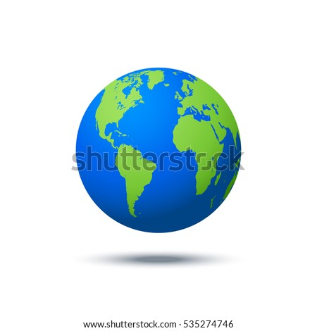 Vector planet icon web illustration background stock vector vector planet icon web illustration background isolated earth globe world map design sciox Image collections