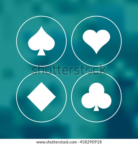 Vector playing cards symbols. - stock vector