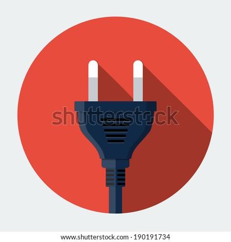Vector plug icon - stock vector