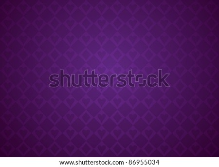 Vector Poker against with colorful background - stock vector