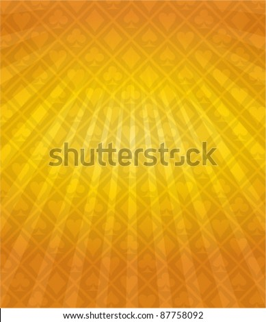 Vector Poker Gold Background - stock vector