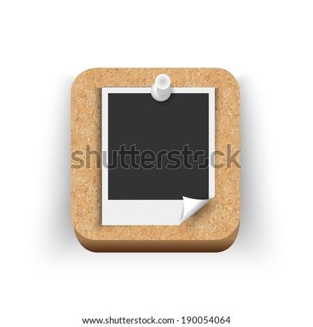 vector polaroid photo app icon - stock vector