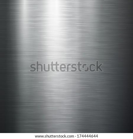 Vector polished metal, steel texture. - stock vector