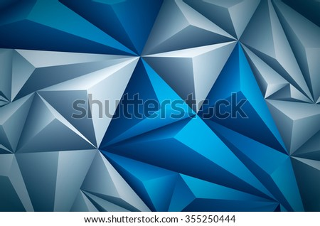 Vector polygon background. Vector file is layered and CMYK color mode. Global colors. Easy editable. - stock vector