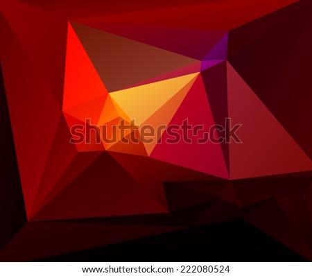 Vector polygonal background - stock vector