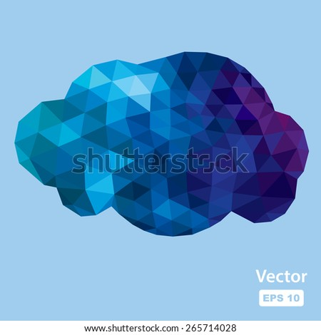 vector polygonal cloud