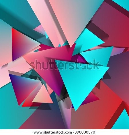 Vector Polygonal Material Design. Mix old and new styles. Used opacity layers for shadows